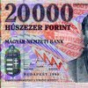 20000 hungarian forint note size