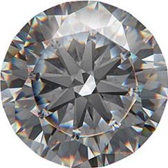 1 carat diamond Actual Size Image