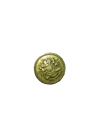 1 GBP coin Actual Size Image