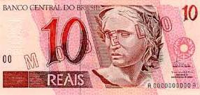 10 Brazilian Real Actual Size Image