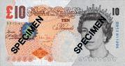 10 British Pound note Actual Size Image