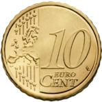 10 Euro Cent Coin Actual Size Image