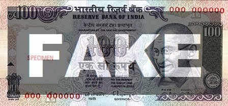 100 rupee note (3) Actual Size Image