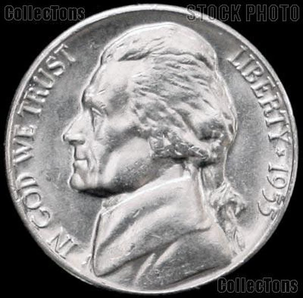 1955-D Jeffreson Nickel Actual Size Image
