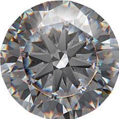 2.5 carat diamond Actual Size Image