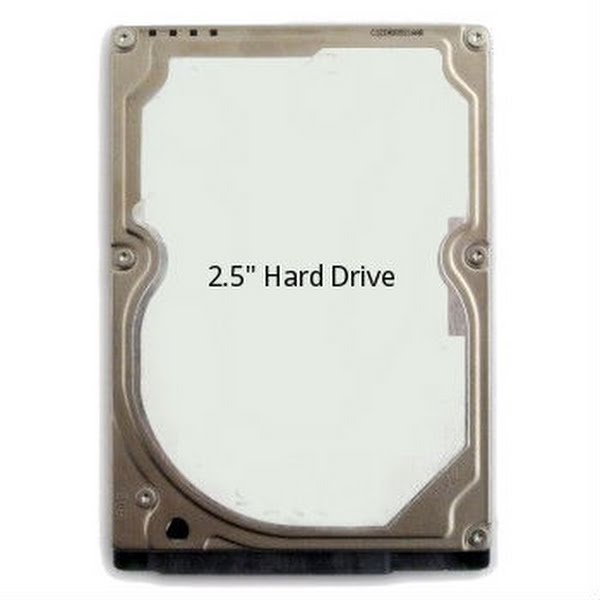 2.5 inch Hard Drive Actual Size Image