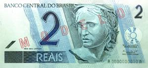 2 Brazilian Real Actual Size Image
