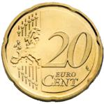 20 Euro Cent Coin Actual Size Image