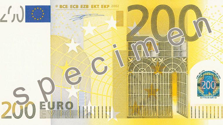 200 Euro Banknote Actual Size Image