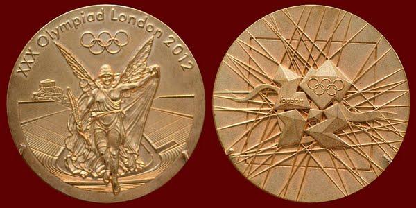 2012 London Olympics medal Actual Size Image