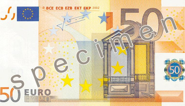 50 Euro Banknote Actual Size Image