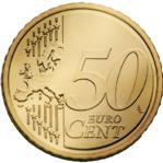 50 Euro Cent Coin Actual Size Image