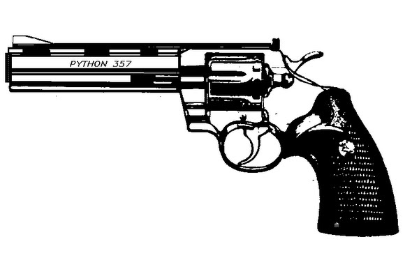 6in python hand gun (2) Actual Size Image