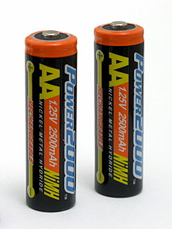 AA Battery (2) Actual Size Image