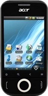 Acer beTouch E110 Actual Size Image