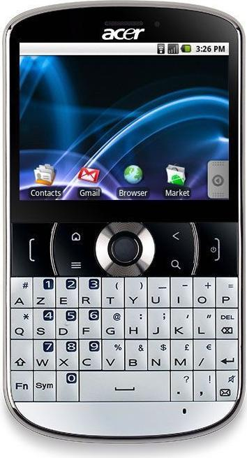 Acer beTouch E130 Actual Size Image