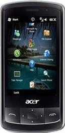 Acer beTouch E200 Actual Size Image