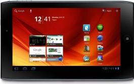 Acer Iconia Tab A100 Actual Size Image