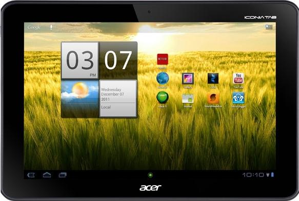 Acer Iconia Tab A200 Actual Size Image