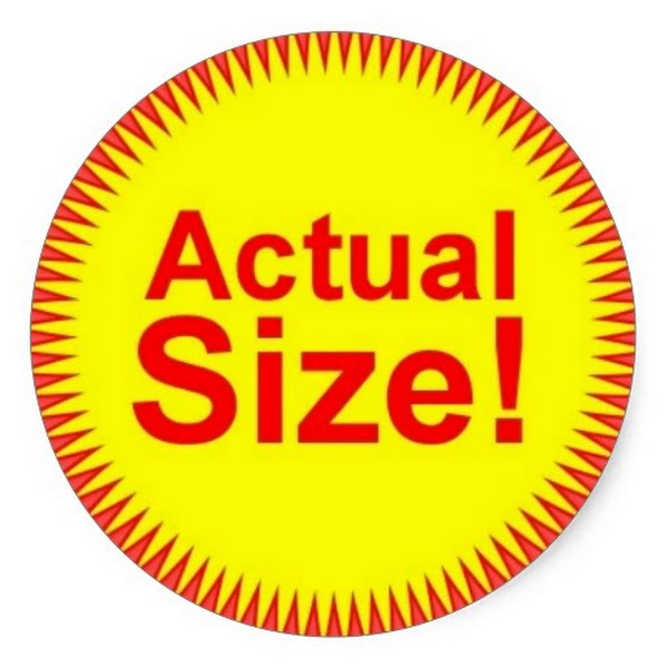Actual Size Sticker Actual Size Image
