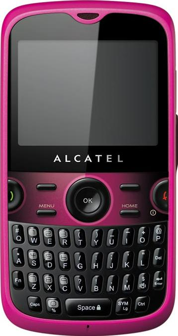 Alcatel OT-800 One Touch CHROME Actual Size Image