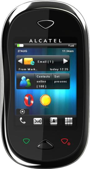 Alcatel OT-880 One Touch XTRA Actual Size Image