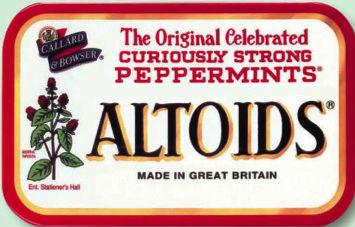Altoids tin box Actual Size Image