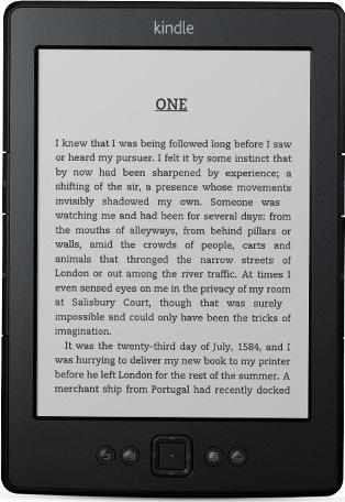 Amazon Kindle 5 Actual Size Image