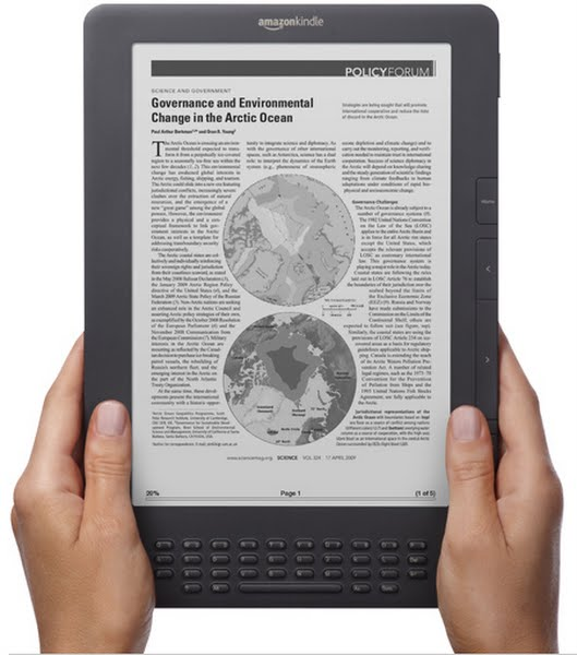 Amazon Kindle DX Actual Size Image