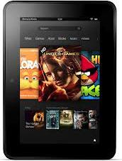 Amazon Kindle Fire HD 7 inch Actual Size Image