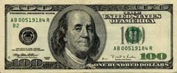 American 100 Dollar Bill Actual Size Image