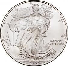 American silver eagle Actual Size Image