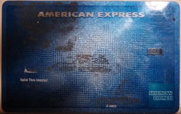 amex cc Actual Size Image