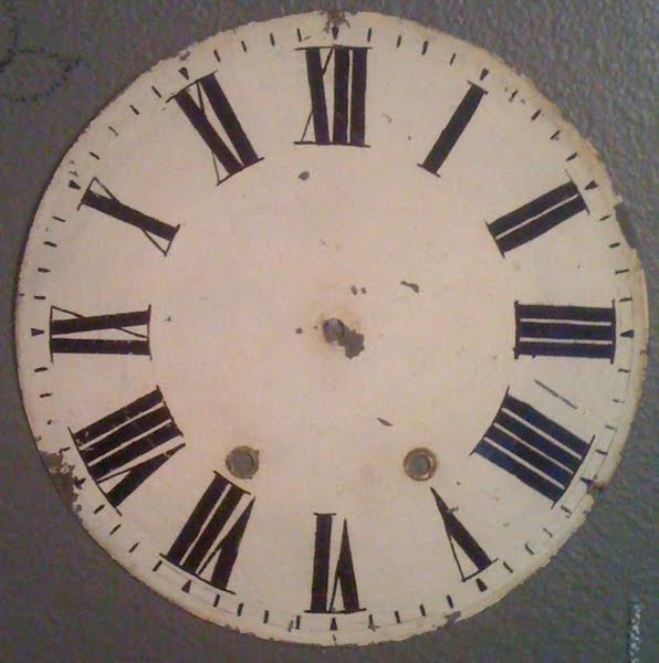 antique clock sample Actual Size Image