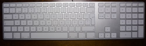apple full keyboard with numeric keypad (2) Actual Size Image