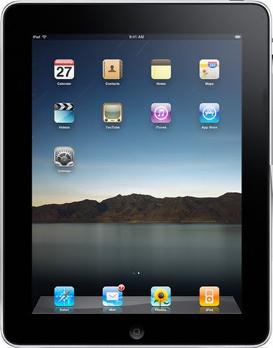 Apple iPad Actual Size Image