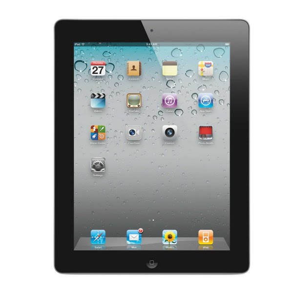 Apple iPad 2 Actual Size Image