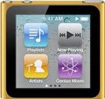 Apple iPod nano 6th generation Actual Size Image