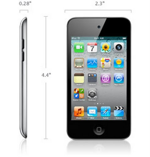 Apple Ipod touch 4G Actual Size Image