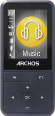 Archos Vision 18B 8GB mp3 player Actual Size Image