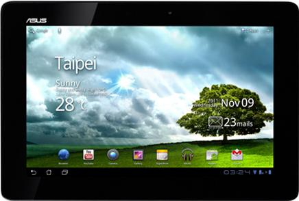 Asus EEE Pad Transformer Prime TF201 Actual Size Image
