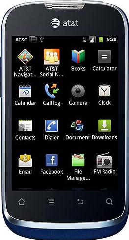 AT&T U8652 FUSION GoPhone Actual Size Image