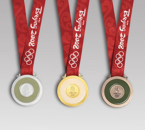 Beijing Olympic Medals Actual Size Image