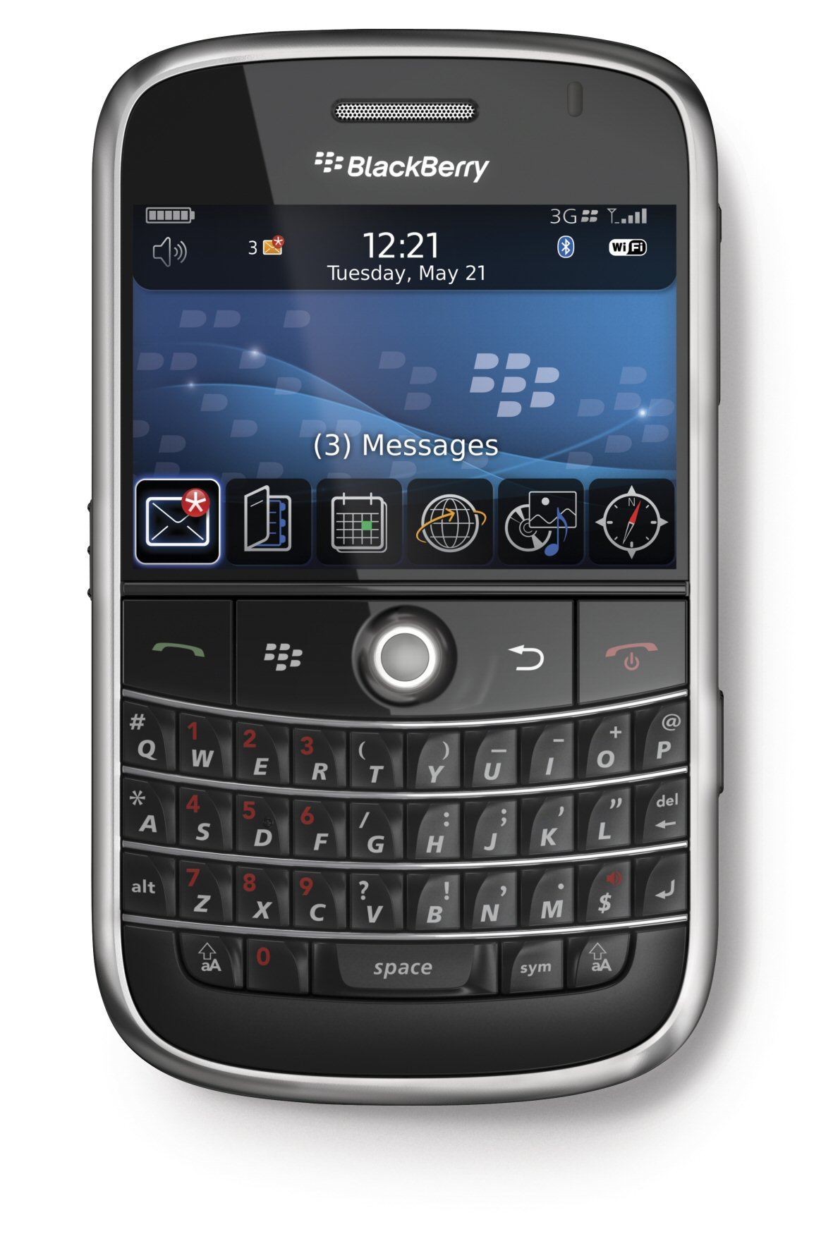 Blackberry Bold Actual Size Image