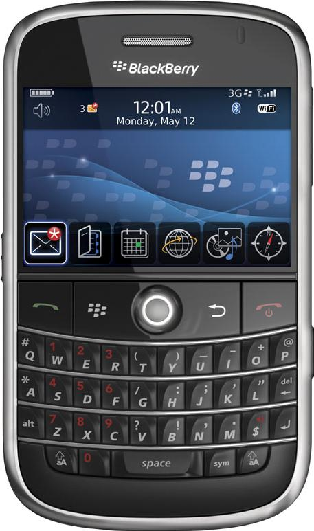 BlackBerry Bold 9000 Actual Size Image