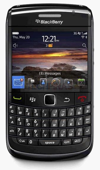 BlackBerry Bold 9780 Actual Size Image
