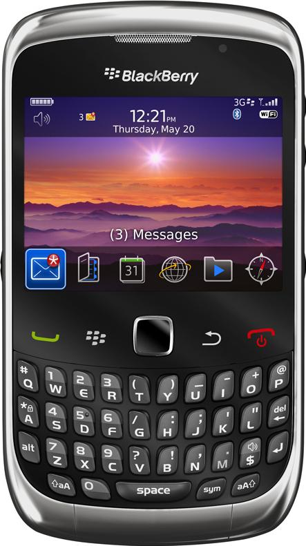 Blackberry Curve 3G 9300 Actual Size Image