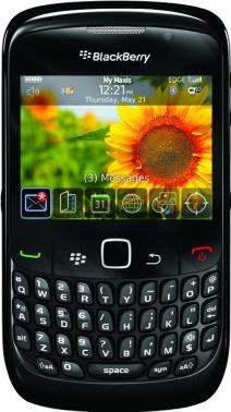 BlackBerry Curve 8250 Actual Size Image