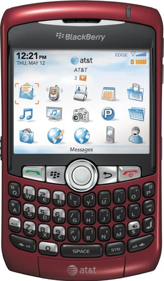 BlackBerry Curve 8310 Actual Size Image