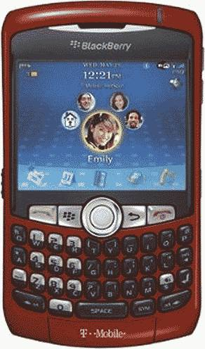 BlackBerry Curve 8320 Sunset Smartphone (T-Mobile) Actual Size Image